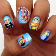 Crazy! This elaborate 'Up'-inspired set: | 26 Incredibly Detailed Nail Art Designs