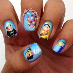 Esta conjunto inspirado en la película Up: | 26 diseños artísticos de uñas increíblemente detallados