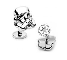 Add a little bling to your cuffs with these palladium plated Storm Trooper helmet cufflinks.