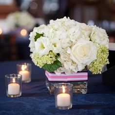 white centerpiece.  without that ribbon.