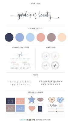 Brand Design for Garden of Beauty - MintSwift - - Collateral Design, Brand Identity Design, Branding Design, Logo Design, Branding Kit, Corporate Branding, Design Websites, Colour Pallete, Colour Schemes