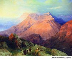 Aivazovskiy Ivan Constantinovich - 'Aul Gunib in Dagestan. View from the East Side'
