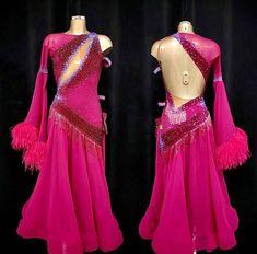 🎁 FREE SHIPPING 🚚 🛒 Order on the website www.ddressing.com - - - #dancelook #fadsarizona #practicewear #danceinblack Ballroom Dresses For Sale, One Sleeve Dress, Dance Costumes, Free Shipping, Website, Formal Dresses, Sleeves, Pink, How To Wear