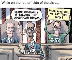 """cartoonpolitics: """" """"Inequality is an enemy of economic growth. (from this article) """" Political Opinion, Political Events, Political Cartoons, Political Satire, Robert Reich, Truth To Power, Lgbt Rights, Thing 1, Free Thinker"""