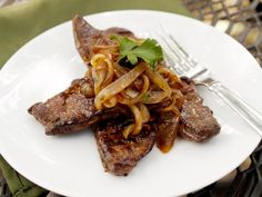 Grassfed beef liver with parsley-onions & lemon. Don't wrinkle your nose! It's really good; promise.