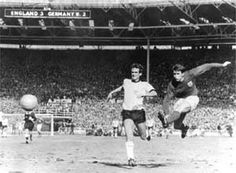 England's Geoff Hurst completes his hat trick against West Germany in the 1966 World Cup final, which England won It was also the last time England appeared in a World Cup final. England National Football Team, England Football, National Football Teams, 1966 World Cup Final, Geoff Hurst, World Cup Trophy, England Players, England International, White Hart Lane