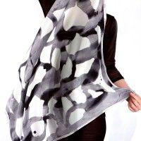 Darkroom Susie Green Grey Wash Scarf. 100% silk,  £75