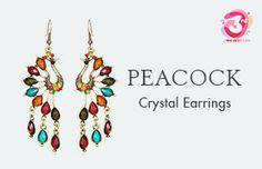 Crystal Peacock Earring