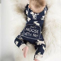 """""""Don't Moose with Me"""" Romper"""