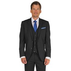 Men's Billy London Slim-Fit Black Suit Jacket, Size: 36 - regular
