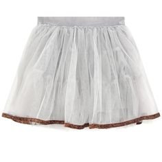 Polyester tulle Synthetic lining Gathered skirt Layered flounces Full skirt effect Elastic waistband Fancy sequins - $ 67