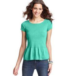 LOFT Peplum Hem Short Sleeve Sweater. Cute!