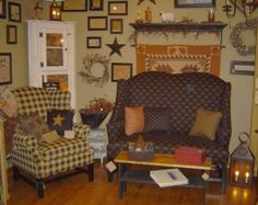 Johnston Benchworks furniture - wonderful made in the USA primitive/colonial furniture - available to order from Farmer's Daughter.