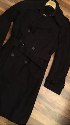 Bogie schwarzer Herrenmantel Gr.94 S Wolle Top Zustand   eBay ee63b7b59c