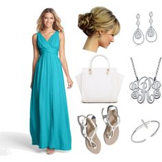summer date by lori-helton on Polyvore featuring polyvore fashion style Donna Morgan Abercrombie & Fitch Bling Jewelry