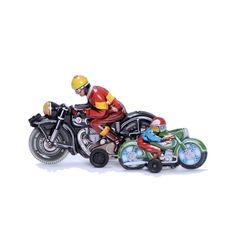 Smith + Butler Vintage Toy Tin Motorcycle