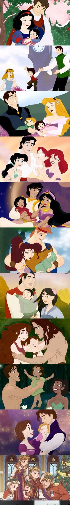 If the Disney movie characters had babies, this is what they would look like ,and they are adorable!!!!