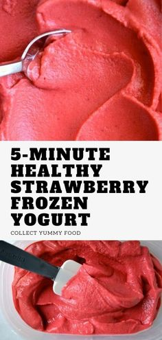 Healthy Strawberry Frozen Yogurt, Watermelon smoothie, Frozen watermelon, Healthy recipes, Frozen yogurt recipe no ice cream maker. Frozen Strawberry Desserts, Healthy Frozen Yogurt, Frozen Yogurt Recipes, Frozen Watermelon, Watermelon Smoothies, Frozen Yoghurt, Watermelon Healthy, Frozen Fruit, Frozen Desserts