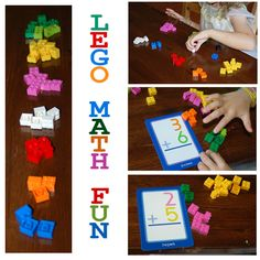 So many ways to get a big bang from Lego's. Check out some of these simple Lego Math Activities.and remember, girls love Lego's too! Math Classroom, Kindergarten Math, Teaching Math, Math Games, Preschool Activities, Lego Games, Maths Fun, Easy Math, Counting Games