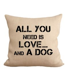 This 'All You Need' Throw Pillow is perfect! #zulilyfinds