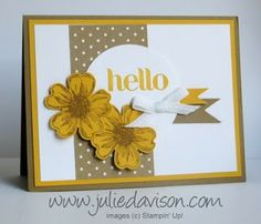 Julie's Stamping Spot -- Stampin' Up! Project Ideas Posted Daily: Flower Shop Control Freaks Swap