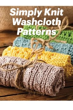 Simply Washcloths Knitting Pattern Handy Dishcloths that Make Great Gifts Knitted Washcloth Patterns, Knitted Doll Patterns, Knitted Washcloths, Knitted Afghans, Knit Dishcloth, Knitted Dolls, Knitting Patterns Free, Stitch Patterns, Knitting Ideas