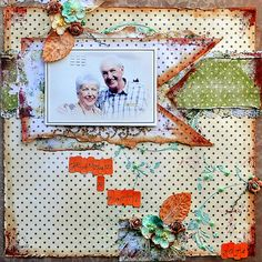 "SCRAP ADDICT: ""Dad & Patti"" Layout - Inkido Challenge May 2014"