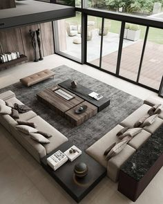 Home Room Design, Interior Design Living Room, Living Room Designs, House Design, Design Moderne, Deco Design, Design Case, Modern Villa Design, Modern Interior Design