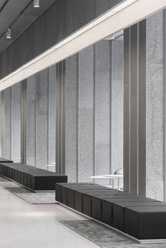 "This lobby to an office building of 1200m2 is mostly made with a recycled material, AIM Architecture after the ""Cork Office on the SOHO Jiarui Plaza"" and ""Ho..."