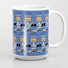 Ice Hockey Blue and White Mug