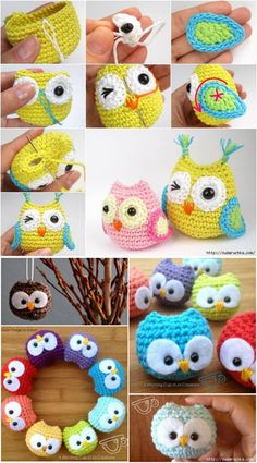 Crochet Amigurumi Ideas - You'll love this Crochet Baby Owls Pattern Video and we have so many great ideas that you won't be able to decide which to start with first! Diy Crochet Owl, Owl Crochet Pattern Free, Crochet Amigurumi, Love Crochet, Crochet Animals, Amigurumi Patterns, Crochet Crafts, Crochet Projects, Knit Crochet