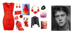"""Red And Dangerous"" by kpopisbae4life ❤ liked on Polyvore featuring moda, Office, Kenneth Jay Lane, Oh My Love, BCBGMAXAZRIA, Oscar de la Renta, CO e Layla Cosmetics"