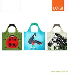 3 for 2 Loqi Bags! Anima and Carry Me. Click on the image to buy!  loqi   reusable  bags db1a3d529a