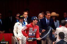 Formel 1 1989, Monaco GP, Monaco, Ayrton Senna, McLaren, Bild: Sutton