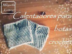Calentadores para botas a crochet (diestro) - crochet boot cuff (English subtitles) - YouTube