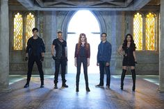 """""""Dead Man's Party"""" - Clary, Jace, Alec and Isabelle work to rescue Simon from the vampire hideout, Hotel du Mort, in a new episode of""""Shadowhunters,"""
