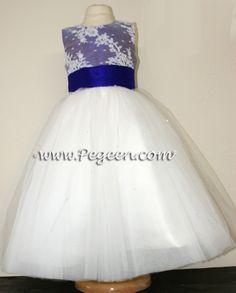 Silk Flower Girl Dresses by Pegeen.com