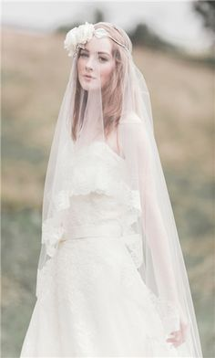 Whimiscal long veil. Lose yourself in more veiled ideas: http://www.i-do.com.au/wedding-tips/wedding-dresses-wedding-accessories/veils/1687/?utm_source=pinterest&utm_medium=organic&utm_campaign=b_veil&utm_term=general&utm_content=general #veil #bride #romance