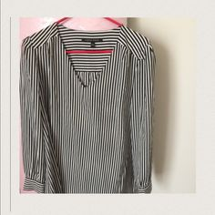 """🔑New🔑 Cynthia Steffe Striped Shirt BNWT Never worn tags still attached Striped blouse. Can wear to work and still fit in after work at Happy Hour. Pair these with flats and and some Red lipstick  for a clean look. 25 inches long. 22 inches armpit to armpit (chest) last pic """"get the look"""" create the look with this blouse Cynthia Steffe Tops Blouses"""