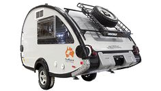 T@B S Max with Outback Package.  Perfect size to tow with a Jeep Wrangler JK.  T@B Teardrop Trailers