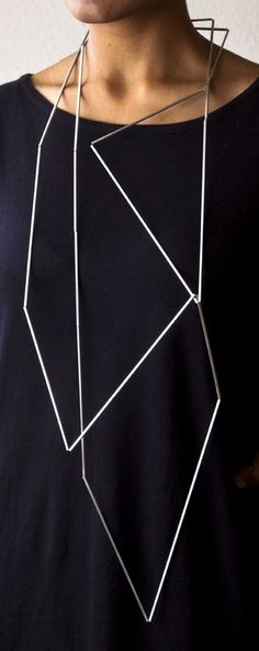 Ute Decker, Articulation, articulated necklace, silver