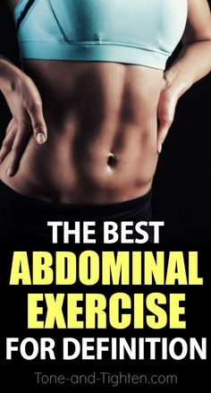 What's the best ab exercise you can do? The answer lies a little deeper than you think! Plus two BONUS workouts to carve out amazing ab definition! From Tone-and-Tighten.com