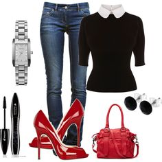 Office outfit on a Friday, created by roxyd on Polyvore