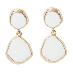 Organic 2 Drop Earrings in #White / #Gold - 28648 - from @colettehayman (AUD $6.71 were AUD $8.95).