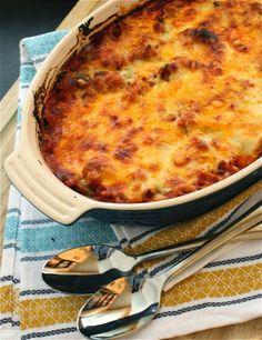 Healthy Meal: Spaghetti Squash Puttanesca Bake Recipe. #healthy #baking #recipe