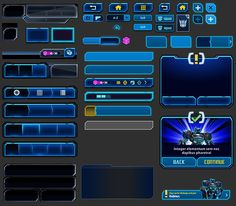 UI design work for iOS/Android game Title: Transformers Legends. Lower Thirds, Sports Graphic Design, Game Ui Design, Game Title, Game Icon, Ui Elements, Game Assets, Canal E, User Interface Design