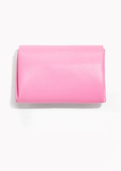 & Other Stories image 2 of Leather Mini Wallet in Pink