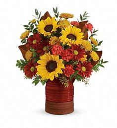 Teleflora's Sunshine Crock Bouquet in Pompano Beach FL, Grace Flowers, Inc.