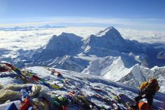 View from the peak of Mt. Everest