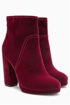 Next Official Site: Womens & Mens Fashion, Kids Clothes & Homeware Velvet Ankle Boots, Platform Ankle Boots, Leather Boots, Latest Fashion For Women, Mens Fashion, Boots Online, Red Velvet, Going Out, Footwear